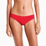 J.Crew Scalloped bikini bottom in Italian matte