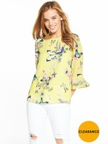 Wallis Petite Butterfly Top - Lemon