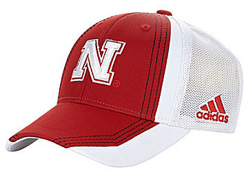 adidas University of Nebraska Flex Meshback Cap