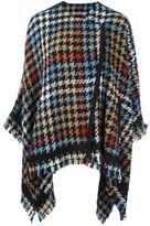 Etro houndstooth pattern cape - women - Acrylic/Nylon/Polyester/Wool - 42