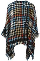 Etro houndstooth pattern cape