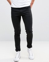 Weekday Form Super Skinny Jeans Black