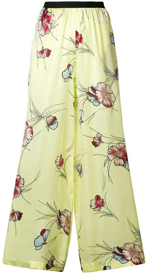 Antonio Marras floral flared trousers
