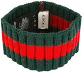 Gucci stud detail ribbed trim headband