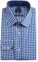 English Laundry Checked Cotton Dress Shirt, Navy