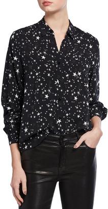 Rails Noemi Star-Print Satin Shirt