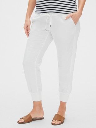 Gap Maternity Full Panel Rib Mix Joggers in Linen-Cotton