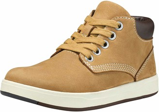 Timberland Davis Square Leather Chukka Unisex-Boots for Kids Yellow (Wheat) 23 EU