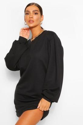 boohoo Puff Sleeve Sweater Dress