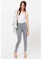 Miss Selfridge Steffi Super High Waist Jeans, Grey
