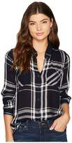 Lucky Brand Plaid Shirt Women's Long Sleeve Button Up