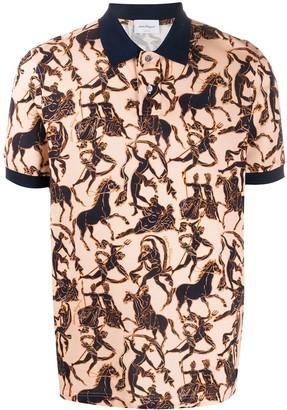 Salvatore Ferragamo Mosaico print polo shirt