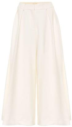 KHAITE Helina high-rise cotton culottes