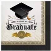 16ct Graduation Cap & Gown Napkins