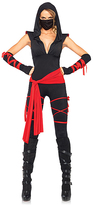 Leg Avenue Black & Red Deadly Ninja 4-Piece Costume Set