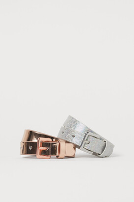 H&M 2-pack Shimmery Belts