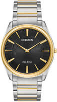 Citizen Eco-Drive Men's Stiletto Two-Tone Stainless Steel Bracelet Watch 38mm