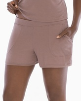 Soma Intimates Full Pajama Shorts Deep Taupe