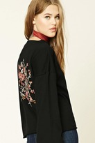 Forever 21 FOREVER 21+ Floral Embroidered Sweatshirt