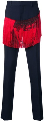 Calvin Klein fringed trousers