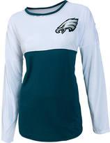 COLLEGE CONCEPTS INC Women's College Concepts Philadelphia Eagles NFL Long-Sleeve Vortex T-Shirt
