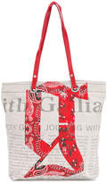 John Galliano newspaper print tote
