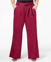 Melissa McCarthy Plus Size Wide-Leg Pleated Trousers