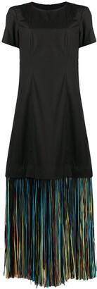 PASKAL clothes Fringed Hem Dress
