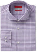 HUGO BOSS HUGO Men's Slim-Fit Purple Large Check Dress Shirt