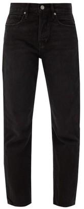 Frame Le Original Straight-leg Jeans - Womens - Dark Grey