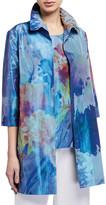 Caroline Rose Plus Size Garden Gala Printed Topper Jacket