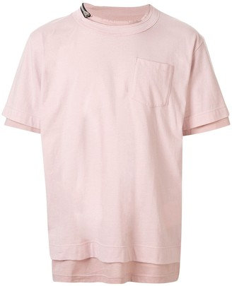 Sacai layered plain T-shirt