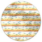 uneekee Skyline Early Morning Round Tablecloth: Large Dining Room Kitchen Woven Polyester Custom Print