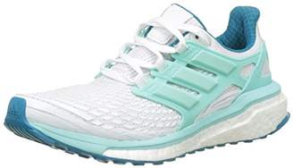 adidas Women's Boost Competition Running Shoes, (Footwear White/Energy Aqua/Mystery Petrol)