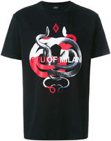 Marcelo Burlon County of Milan intertwined snakes T-shirt