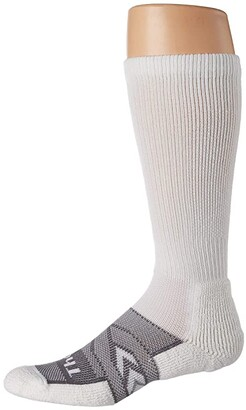 Thorlos 12-Hr Shift Work Sock Over Calf Single Pair (White/Grey) Crew Cut Socks Shoes