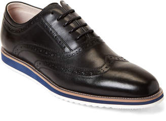 English Laundry Black Rory Brogue Leather Oxfords