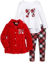 Nannette 3-Pc. Holiday Jacket, Shirt & Leggings Set, Toddler & Little Girls (2T-6X)