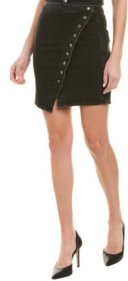 Neon Blonde Bella Snap Mini Skirt