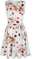 Yumi Rose Print Occasion Dress
