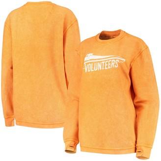 Women's Pressbox Tennessee Orange Tennessee Volunteers Comfy Cord Corduroy Crewneck Sweatshirt