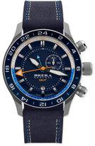 Brera Eterno Orologi GMT Watch with Suede Strap, Silver/Navy