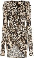 Alexandre Vauthier animal print mini dress