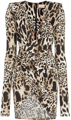 Alexandre Vauthier animal print mini dress