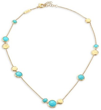 Marco Bicego Jaipur Turquoise 18K Yellow Gold Station Necklace