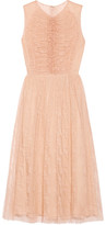 Jason Wu Ruched Lace Midi Dress - Blush