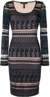 BCBGMAXAZRIA Crochet-Knit Mini Dress