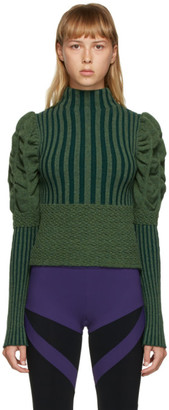 Paula Canovas Del Vas Green Knit Turtleneck