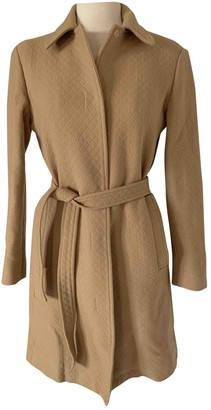 Lanvin Camel Wool Coat for Women Vintage