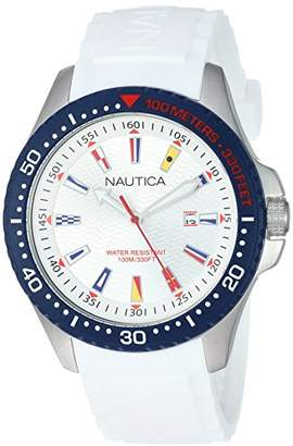 Nautica Men's Jones Beach Collection Japanese-Quartz Watch with Silicone Strap